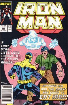 Iron Man # 220 by Mark Bright & Bob Layton