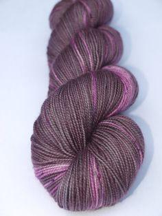 Purple People Eater Hand Dyed Fingering/Sock Yarn 100 SW by Quaere, $20.00