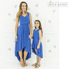Mom and Me clothing delivered to your door. My Mom, I Dress, My Outfit, Daughters, Colours, Blue, Clothes, Beautiful, Dresses