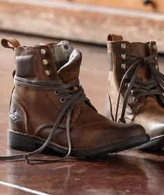 very rustic feel. looks so comfy. could think of a million things to do with these shoes!