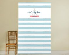 Nautical Baby Shower Personalized Photo Backdrop