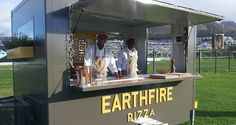 Gourmet pizzas by Earthfire Pizza food truck. Photo courtesy of the food truck. Pizza Food Truck, Best Food Trucks, Coffee Truck, Catering Food, Pizza Recipes, Cape Town, Street Food, Good Food, Container