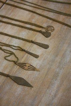 Hand-made Necklace: bronze
