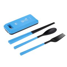 NatureHike Outdoor Travel Picnic Portable Tableware Set Eco-friendly ABS Chopsticks Spoon Fork Storage Box