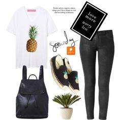 Pineapples by Popmap 41 by deeyanago on Polyvore featuring polyvore, fashion, style, Soludos, Architectural Pottery, Pussycat, Monday, clothing and popmap