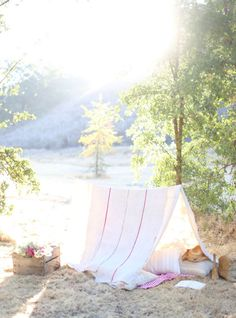 A French Linen Tent via Dusty Lu