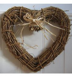 not a heart but maybe a circle wreath with a burlap flower?