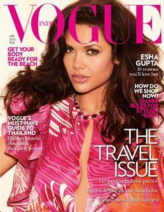 Snapshot: Esha Gupta for Vogue India April 2013 Vogue Magazine Covers, Fashion Magazine Cover, Fashion Cover, Vogue Covers, Vogue India, Vogue Uk, Dior, Safari Chic, Freida Pinto