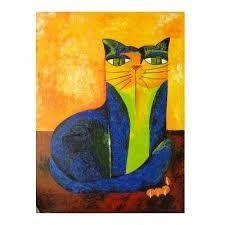 Resultado de imagem para quadros gato