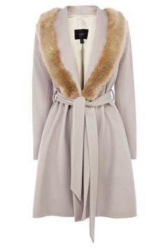 "Coast ""Zabrina"" coat with fur-trimmed collar"