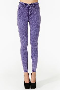 Hot Acid Skinny Jeans in Lilac