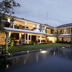 """Cassamia Villa, a stunning 2-storey contemporary villa located in #Jimbaran, 10 minutes from Bali's Ngurah Rai #International #Airport and 100 meters from the #beach. The newly built villa boasts a #beautiful open-plan #design with 5 spacious bedrooms, an indoor """"cinema"""", a children's playroom and a rooftop deck for those special sunsets over the #JimbaranBay. Each bedroom comes with its own en-#suite bathroom overlooking manicured lawns, beautiful landscaping and our main attraction – an alluring 22m lap pool plus kids' wading pool. Cassamia Villa is particularly ideal for families – it was built as a kid-#friendly #accommodation to provide #children of all ages with endless fun under the sun #bali #geriabali #roomcritic #nevergoingtoboycottbali #beautifuldestination #luxwt #destinosmaravilhososbyeli #thosesummerdays__ #hgtv #thegoldlist #Holidays #earthpic #luxuryworldtraveler #vacation #darlingescapes #travellerworld #pinktrotters #magicpict  www.geriabalivacation.com/cassamia-villa/ Jimbaran, Rooftop Deck, Luxury Estate, Beach Villa, Cool Pools, Luxury Villa, Luxury Living, Luxury Travel, Hotel Offers"""