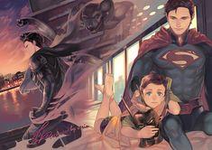 Tags: Fanart, Pixiv, Batman, Robin (DC Comics), Superman, DC Comics, Superman (Character), Fanart From Pixiv, Batman (Character), Bruce Wayne, Pixiv Id 4220517, Kal-el