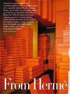 Hermes Stacked Boxes #Hermes #Vanity Fair #Orange