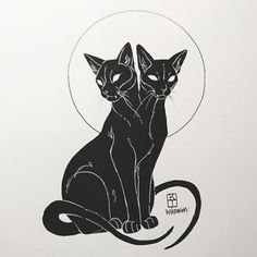 Art of Krista Tyni Cat tattoo Inspiration Art, Art Inspo, Tattoo Drawings, Body Art Tattoos, Dark Drawings, Tattoo Sketches, All Tattoos, Animal Drawings, Sleeve Tattoos