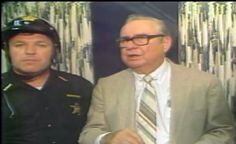 June 11, 1981 Then Sheriff Tom Harden at a press conference with Former Governor James Rhodes following the Cardington tornado.