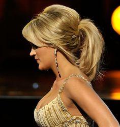 ponytail hairstyles | Carrie Underwood Teased Ponytail Hairstyle | Hairstyles Weekly