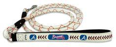 Atlanta Braves Baseball Leather Leash - L