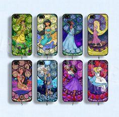 Disney princess case Disney phone case Disney by ReginaCase, $9.99 love the Rapunzel, tiana and Alice in wonderland ones