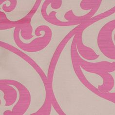 Flamingo Pink #traditional #scroll #pattern #mod #vine #drapery