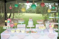 Ice Cream Shoppe Party via Karas Party Ideas   KarasPartyIdeas.com #ice #cream #shoppe #party #ideas #summer #cake (18)