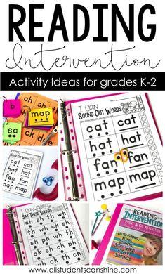 Reading Intervention K-2