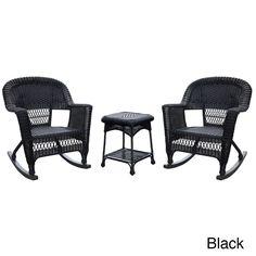 Jeco 3-piece Rocker Chair Set , Patio Furniture