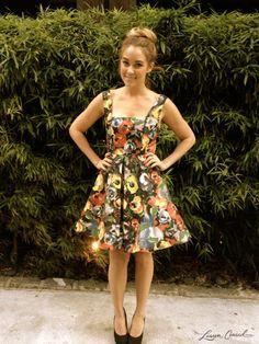 Lauren Conrad wearing a Alice + Olivia dress and LC Lauren Conrad pumps #FashionWeek