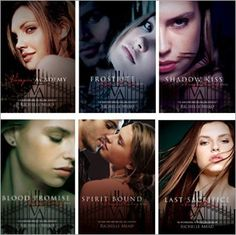 The Vampire Academy series. One of my favorites ever. WAAAAYYY better than any Twilight, Vampire Diaries, whatever. Really awesome books