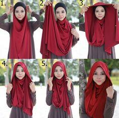 Easy and simple look hijab tutorial  #hijabtutorial #stepbystep