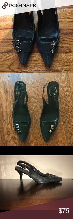 💥SALE💥 Authentic Prada Black Slingback Heels Beautiful pointed toe sling backs only worn a few times and in great condition! Very elegant! Prada Shoes Heels