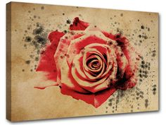 modern abstract painting roses flv3 print on canvas by MagnifiKo