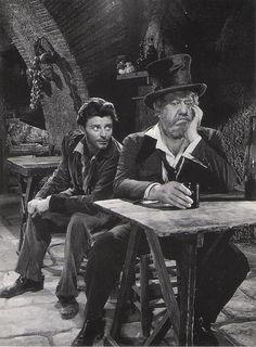 Gerard Philipe and Michel Simon in La Beauté du Diable directed by René Clair, 1950
