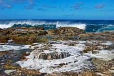 The reef at Keleti Beach, Tonga
