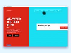 Landing page Tappawards by Cuberto