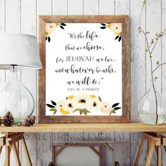 Life of a PIONEER | Song 140 | JW | new songs | SKE gift | Jehovah | Digital Print | Gift | Neutral | 0065 by AllThingsEverAfter on Etsy