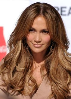 dark brown hair with caramel and red highlights pictures