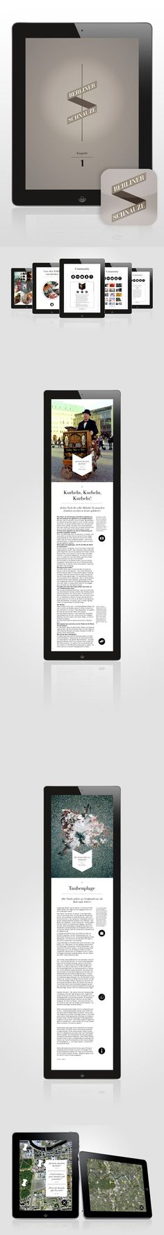 Berliner Schnauze - iPad Magazine by Marcel Bachran, via Behance * * * #ipad #behance #gui