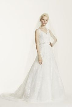 A classic and chic gown for a sophisticated bride to be! Oleg Cassini Style CWG672 for David's Bridal.