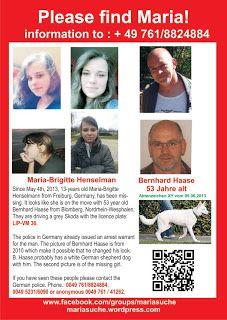 "International ""Missing Zaginieni"" : Missing Maria-Brigitte Henselmann"