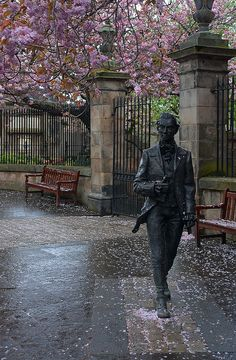 Robert Fergusson by David Annand, Canongate Kirkyard, Edinburgh