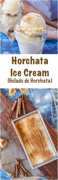 Horchata Ice Cream (Helado de Horchata)   #recipe #horchata #icecream #helado #cinnamon #almond #dessert #Mexican #Mexico #CincodeMayo