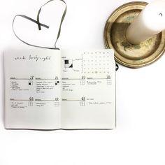 Inga (@ingasbujo) • november weekly spread habit tracker