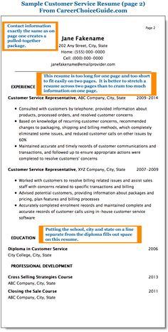 sample customer service resume in the combination style plus formatting tips