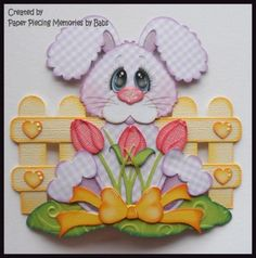 Spring-Bunny-Premade-Paper-Piecing-Die-Cut-for-Scrapbook-Page-byBabs