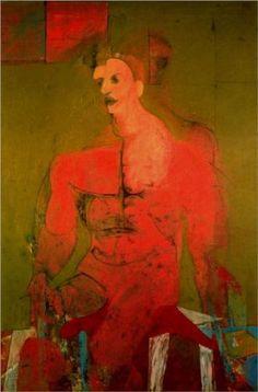 Seated figure(maleclassical) - Willem de Kooning