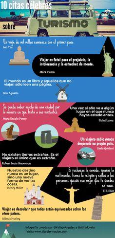 10 citas célebres sobre Turismo #infografia #citas #quotes #tourism