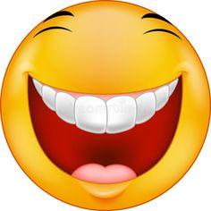 Illustration about Illustration of Cartoon Laughing smiley. Illustration of illustration, happy, button - 46948142 Smiley Emoticon, Emoticon Faces, Funny Emoji Faces, Funny Emoticons, Silly Faces, Cartoon Faces, Happy Emoticon, Images Emoji, Emoji Pictures
