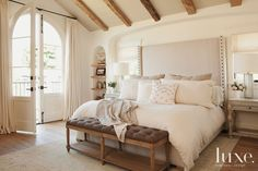 Bright, light, and airy bedroom. So inviting!