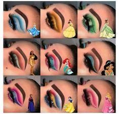 Disney Eye Makeup, Disney Inspired Makeup, Disney Princess Makeup, Eye Makeup Art, Eyeshadow Makeup, Pocahontas Makeup, Moana Makeup, Makeup Eyebrows, Fairy Makeup